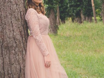 Blush Pink Wedding Dress by River Elliot Bridal