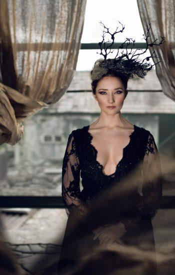River Elliot Bridal Black Wedding Dress