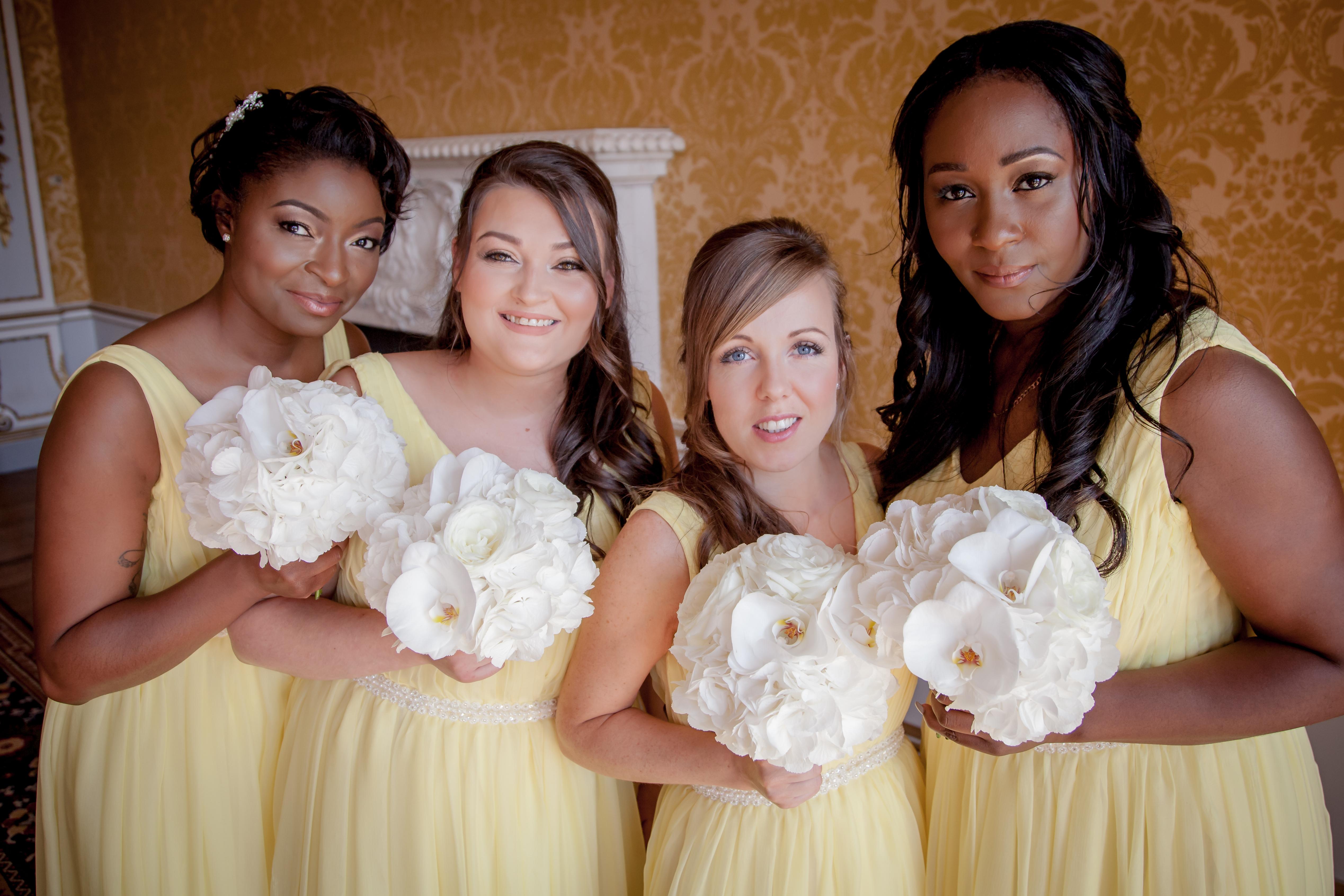 Bespoke bridesmaids silk chiffon dresses