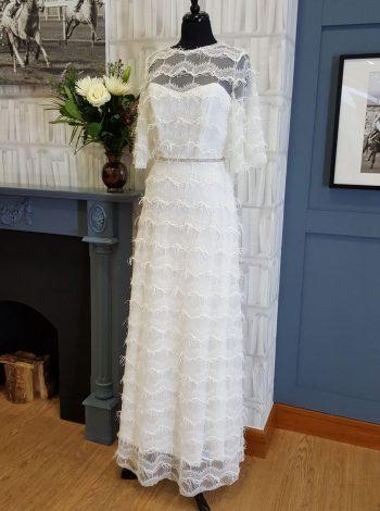 River Elliot Bridal Grace Fringed Wedding Dress