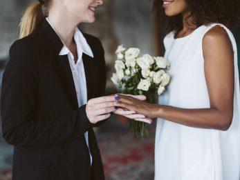 Modern bridal wear
