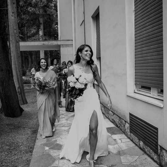 lace and silk wedding dress for a wedding in Croatia.