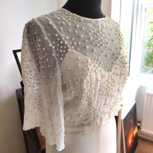 Beautiful beaded pearl bridal top