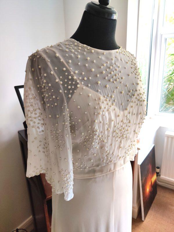 Beautiful beaded pearl bridal top